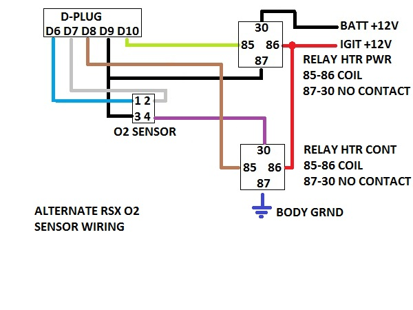 Rsx O Sensor Diagram Download Wiring Diagrams - Acura rsx kpro